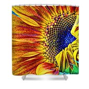 Sunflower Abstract Shower Curtain