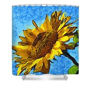 Sunflower Abstract Shower Curtain by Unknown