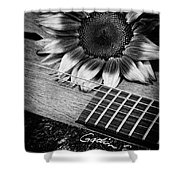 Sunflower And Guitar Shower Curtain