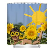 Sunflower And Sun Shower Curtain