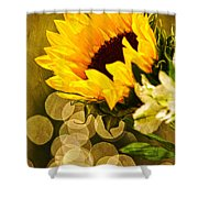 Sunflower And The Lights Shower Curtain