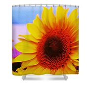 Sunflower At Beach Shower Curtain