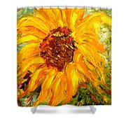 Sunflower Shower Curtain by Barbara Pirkle