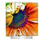 Sunflower Crazed Shower Curtain
