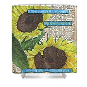 Sunflower Dictionary 2 Shower Curtain