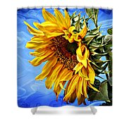 Sunflower Fantasy Shower Curtain