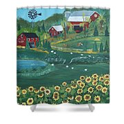Sunflower Farm Shower Curtain