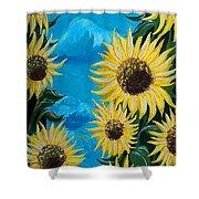 Sunflower Fun Shower Curtain
