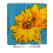 Sunflower Illusion Shower Curtain