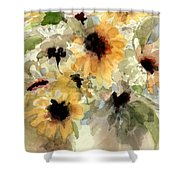 Sunflower Impressions Shower Curtain