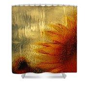 Sunflower In The Rain Shower Curtain