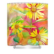 Sunflower Shower Curtain by Kelly Perez