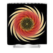 Sunflower Moulin Rouge Vii Flower Mandala Shower Curtain