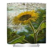 Sunflower Mountain Shower Curtain