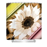 Sunflower Rail Shower Curtain