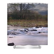 Sunflower River Shower Curtain