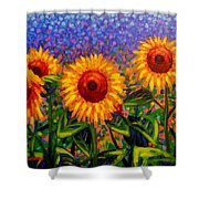 Sunflower Scape Shower Curtain
