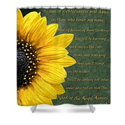 Sunflower Scripture Shower Curtain