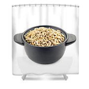 Sunflower Seeds In A Black Cup Shower Curtain