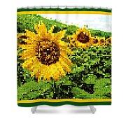 Sunflower Tapestry Shower Curtain