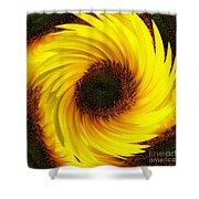 Sunflower Twirl Shower Curtain
