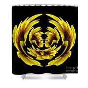 Sunflower With Warp And Polar Coordinates Effects Shower Curtain