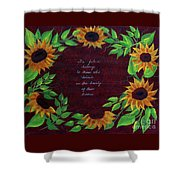 Sunflowers And Dreams Shower Curtain