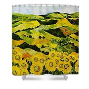 Sunflowers And Sunshine Shower Curtain
