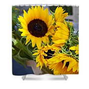 Sunflowers At Market Shower Curtain