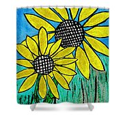 Sunflowers For Fun Shower Curtain