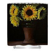 Sunflowers In Vase Shower Curtain