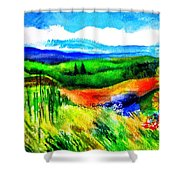 Sunflowers Near Greve Shower Curtain