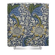 Sunflowers On Blue Pattern Shower Curtain