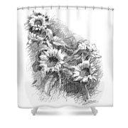 Sunflowers Shower Curtain by Sarah Parks
