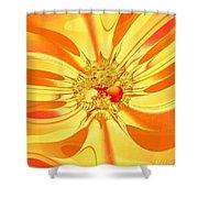 Sunglow Fractal Shower Curtain