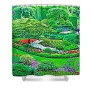 Sunken Garden In Butchart Gardens Near Victoria-british Columbia Shower Curtain