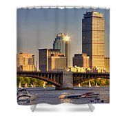 Sunkissed Prudential - Boston Shower Curtain by Joann Vitali