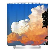 Sunkissed Storm Cloud Shower Curtain