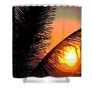 Sunlight - Ile De La Reunion - Reunion Island Shower Curtain by Francoise Leandre