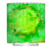 Original Abstract Art Painting Sunlight In The Trees  Shower Curtain