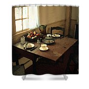 Sunlight On Dining Table Shower Curtain