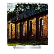 Sunlight On Old Brick Building - Ellensburg - Washington Shower Curtain