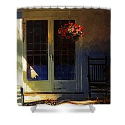 Sunlight On Scarlet - New England Autumn Shower Curtain