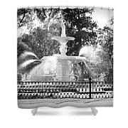 Sunlight Through Savannah Fountain With Vignette Shower Curtain