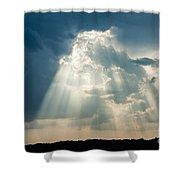 Sunlight Through The Clouds Shower Curtain