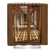 Sunlit Corridor Shower Curtain