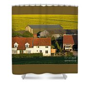 Sunlit Farm Shower Curtain