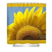 Sunlit Sunflower Shower Curtain