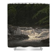 Early Morning Sunlit Waterfall Shower Curtain