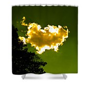 Sunlit Yellow Cloud Shower Curtain